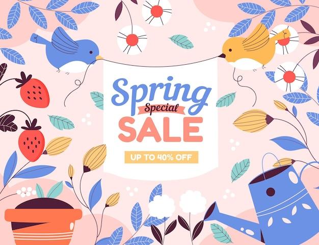 Frühlingsverkaufskonzept