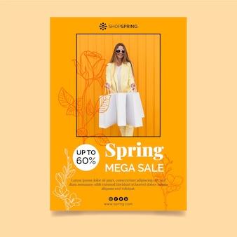Frühlingsverkaufsplakatschablone