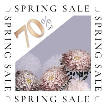 Frühlingsverkaufsvorlage für social-media-anzeigen