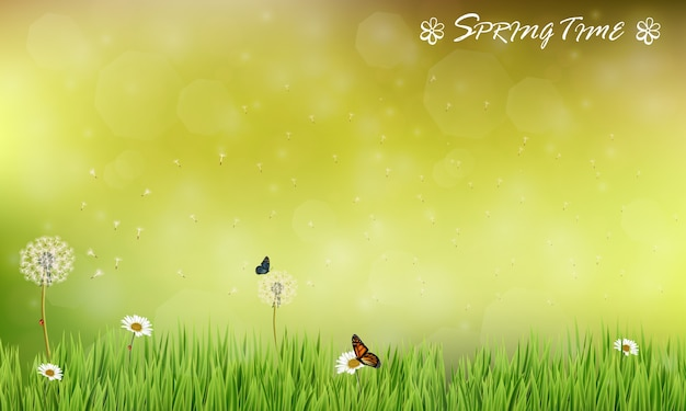 Frühlingszeit-saison-thema