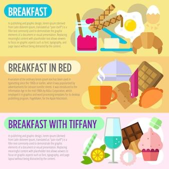 Frühstück banner-sammlung