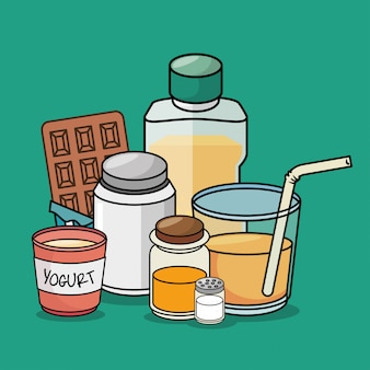 Frühstück cartoon elemente grafik