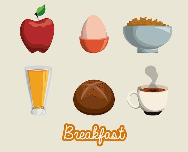 Frühstück design.