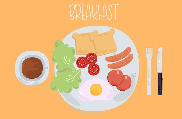 Frühstück illustration