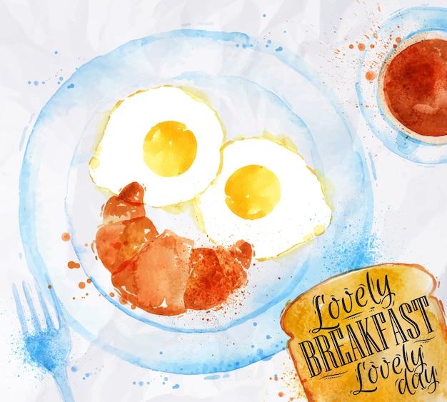 Frühstück lächeln eier