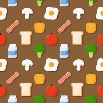 Frühstück nahtlose muster