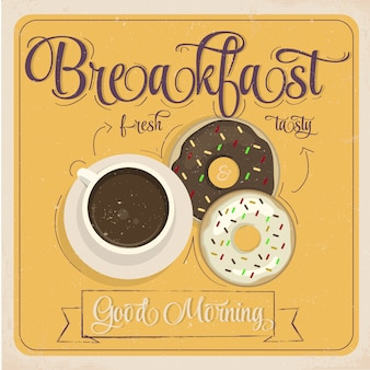 Frühstücksplakatentwurf