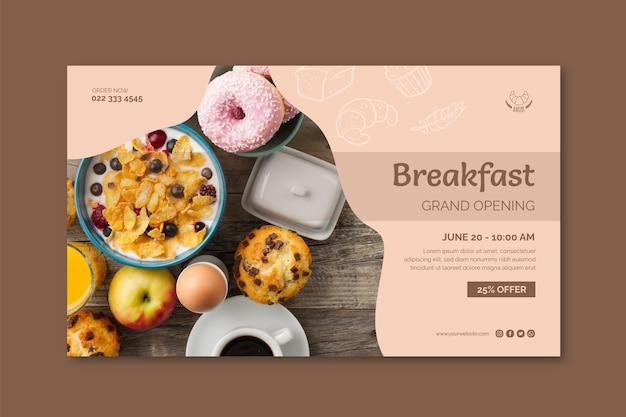Frühstücksrestaurant-bannerschablone