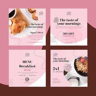 Frühstücksrestaurant instagram post sammlung