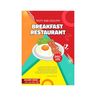 Frühstücksrestaurantplakat
