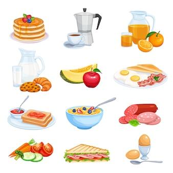 Frühstückssymbole eingestellt