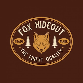 Fuchs abenteuer etikett
