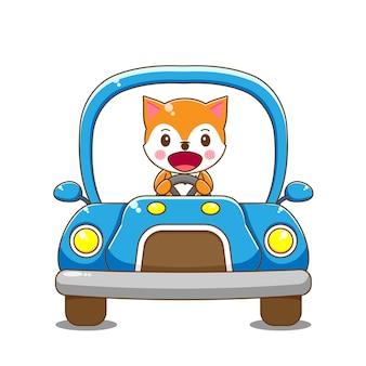 Fuchs charakter auto fahren.