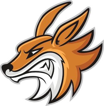 Fuchs kopf maskottchen