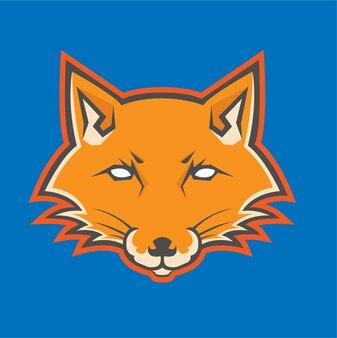 Fuchs logo kopf maskottchen vektoren.