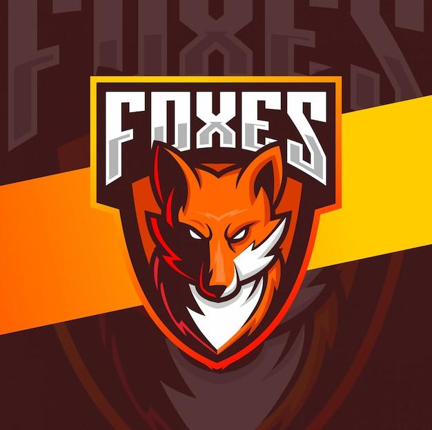 Fuchs maskottchen esport logo design