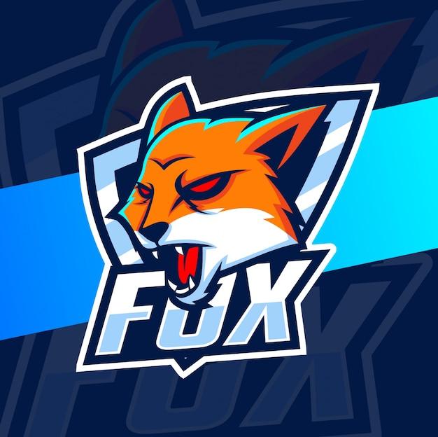 Fuchs maskottchen esport logo designs