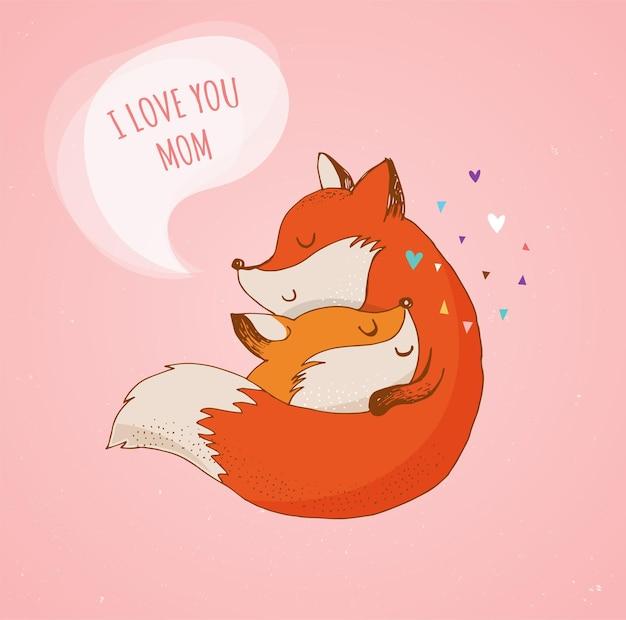 Fuchs, süß, lieblich. ich liebe dich, mami
