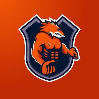 Füchse maskottchen logo design