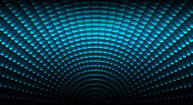 Führte kinoleinwand für filmpräsentation. cemicircle drehen light abstract