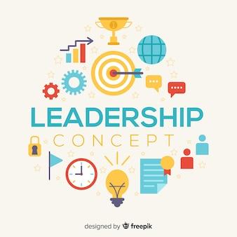 Führung design in flachen stil