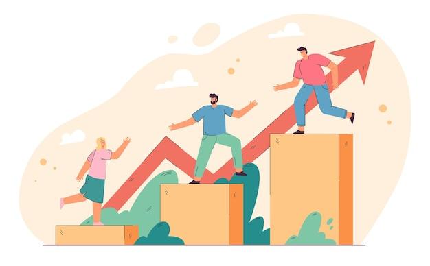 Führungs- und teamwork-konzept