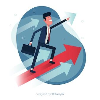 Führungshintergrund in der flachen art