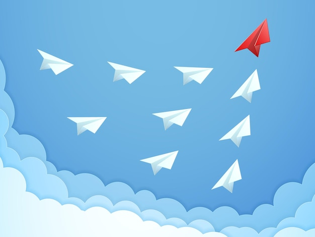 Führungskonzept für papierflugzeuge