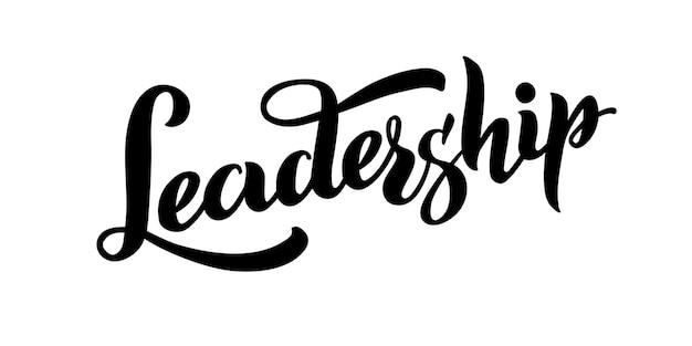 Führungsvektor handgezeichneter schriftzug kopf derjenige, der den ersten starken charakter-slogan geht