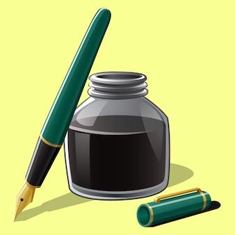 Füllfederhalter mit flasche tinte
