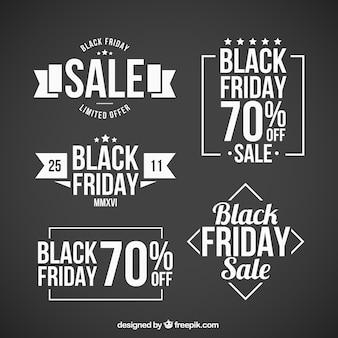 Fünf abzeichen für schwarzen freitag