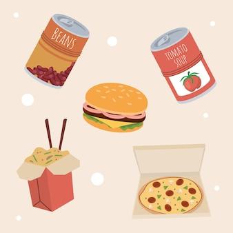 Fünf home-food-symbole