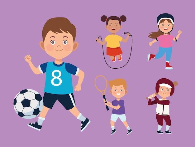 Fünf kinderaktivitäten