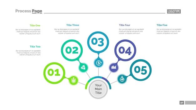Fünf schritte strategie slide template