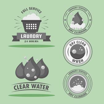 Fünf wäschestempel