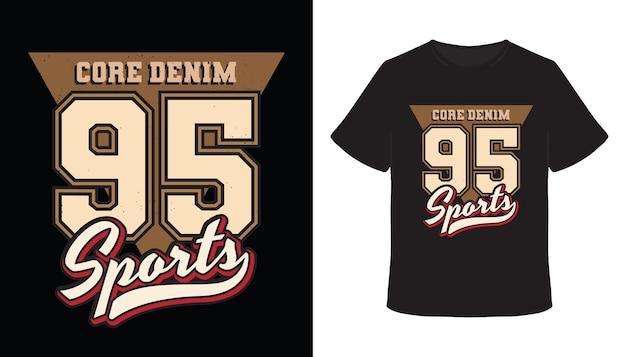 Fünfundneunzig sporttypografie-t-shirt-design
