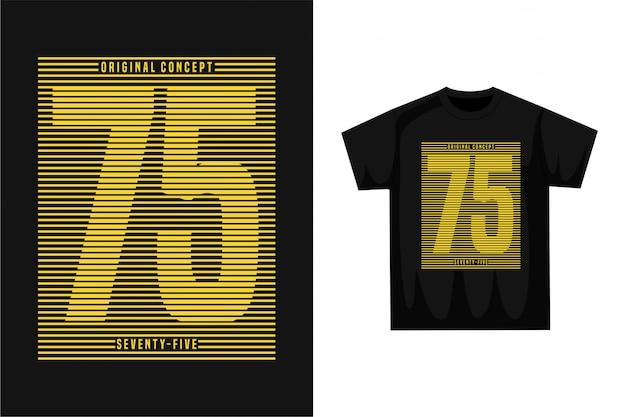 Fünfundsiebzig - grafisches t-shirt
