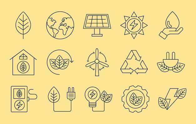 Fünfzehn bioenergieelemente