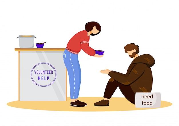Fütterung schlechte flache illustration