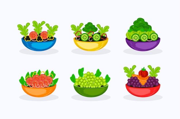 Fuits und salatschüsseln design