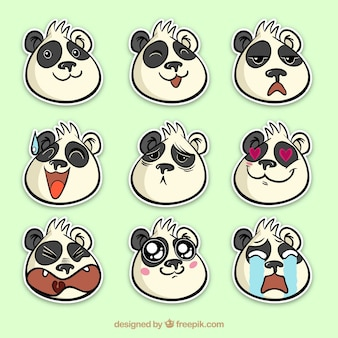 Fun pack von panda aufkleber