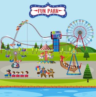Fun park und fahrgeschäfte