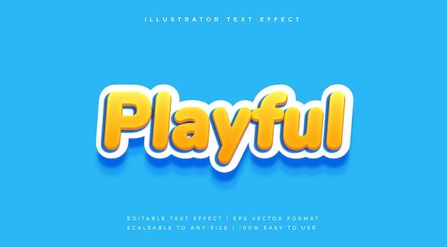 Fun playful vibrant text style schriftart-effekt