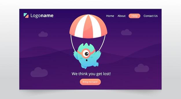 Fun-seite nicht gefunden landing-page-design