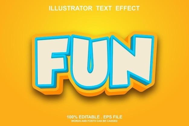 Fun text effekt bearbeitbar