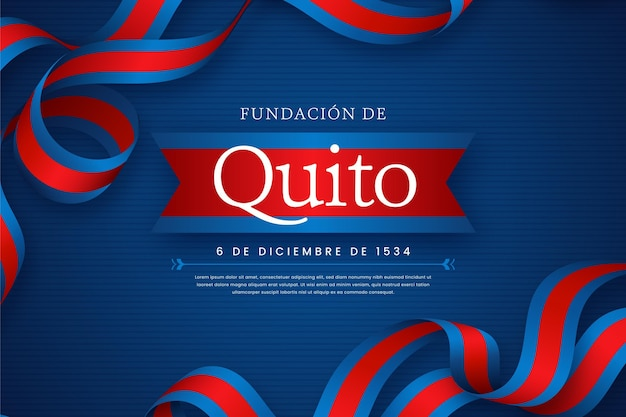 Fundación de quito mit abgebildetem band