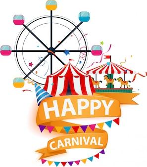 Funfair und karneval hintergrund