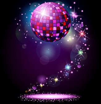 Funkelnde discokugel.