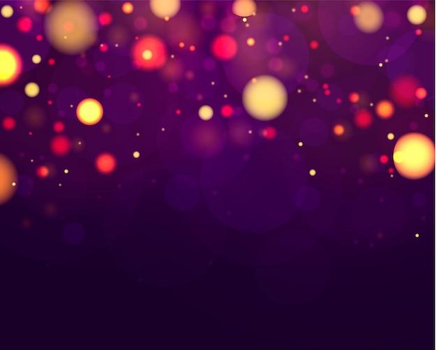 Funkelnde magische staubpartikel. abstrakter hintergrund mit bokeh-effekt