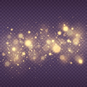 Funkelnde magische staubpartikel abstrakter magischer bokeh-lichteffekthintergrund